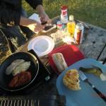 leckeres Hähnchenbrust-Dinner im Wind