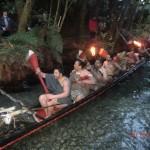 Maorikrieger im Kanu