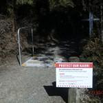 Achtung Kauri - Fußabtreten!