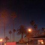 vom Parkhausdach am Abend