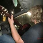 Gitarre im Auto, wir haben soooo viel Platz
