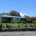 Häuschen mit blühendem Vorgarten