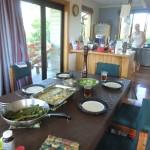 Dinner: Ei-Spinat-Quiche mit frischem Salat