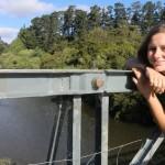 auf der Brücke (wackelte irgendwie)