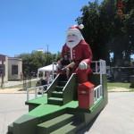 Weihnachtsmann sonnt sich