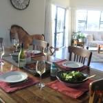 unser Dinner auf dem Tisch!