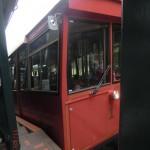 berühmtes rotes Cable Car