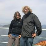 wir auf der Fähre vor der Südinsel