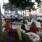Blasorchester auf dem Weihnachtsmarkt