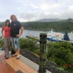 wir mit Pictons Fähren im Hintergrund