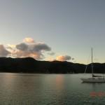 romantische Aussichten vom Deck des Hausboots