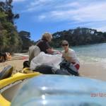 wir in unserer Kayak-Pause in der Mosquito Bay