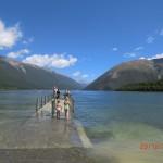 begeh-schwimm-barer Steg am Lake Rotoiti