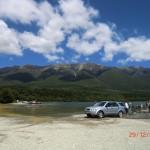 auch die Wiese und der Parkplatz mutierten zum See