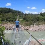 Neuseelands längste Hängebrücke überm Buller River