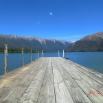 der Ersatz-Steg, zurück am Lake Rotoiti (und keiner merkt's)