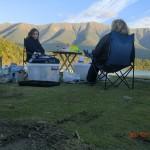unsere Abendbrotsrunde am Lake Rotoiti