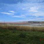 rosa Salzsee zur Linken