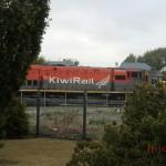 die KiwiRail-Lock, unser Zug wartet schon :-)