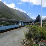 Halt am Arthur's Pass: blauer Himmel im Osten