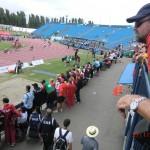 paralympische Leichtathletik WM 2011 Christchurch: von der Tribüne