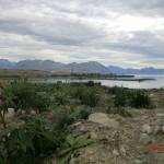 Lake Tekapo vom Schlafplatz aus - aber mal Wolken drüber