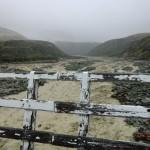 die selbe Brücke nach der durchregneten Nacht