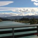 auf der Brücke überm Lake Dunstan