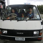 Felix und Marian in ihrem Van