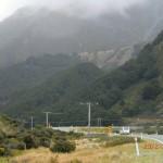 auf der Fahrt zum Mount Cook - zweiter Versuch III (der Dortmunder Van vor uns)