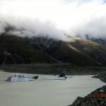 Schollen vor den Alpen