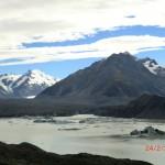 der Tasman Glacier und sein Lake in den Southern Alps