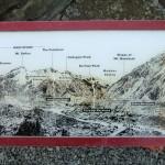 Namen der Berge auf unserem Weg