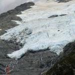 ein Gletscher heran gezoomt