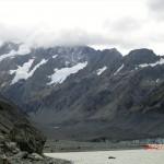 angekommen: der Hooker Glacier mit seinem Gletschersee