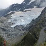 Gletscher eines Berges am Wegrand