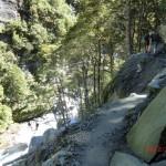 gefährliche Wege, steile Abhänge