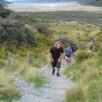 Bilder von Marian: bergauf zum Tasman Glacier Lookout