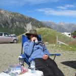 Bilder von Marian: nach der Hooker Valley Wanderung aufm Parkplatz: Trinken!