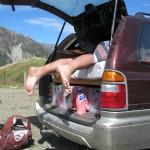 Bilder von Marian: nach der Hooker Valley Wanderung aufm Parkplatz: Schlafen!