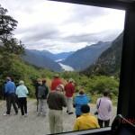 Doubtful Sound Overnight: erster Blick auf den Doubtful Sound vom Wilmot Pass