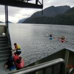 Doubtful Sound Overnight: Kayaken (wir waren schon wieder an Bord)