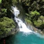 toller Gletscher-Wasserfall unterwegs
