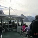das Boot auf dem Milford Sound