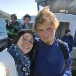 Felix und Tini aufm Boot
