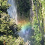 Stirling Falls am Milford Sound - toller Regenbogen!!!