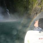 Tini unterm Regenbogen der Stirling Falls