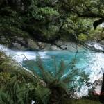 zurück am türkisen Gletscherfall mit kleinem Pool