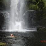Bad unterm Wasserfall :-)