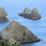und umgekippte Pancake Rocks? am Nugget Point